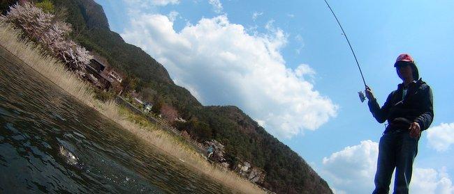 河口湖バスフィッシング